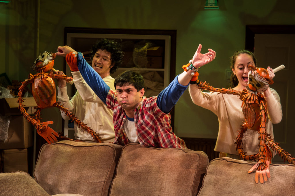 Jacob Yeh as Puppeteer, Ryan Carlo as Peter, Julia Klavans as Puppeteer