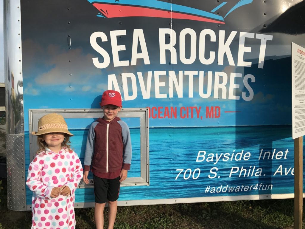 Sea Rocket offers Bambino friendly boat rides, parasail and fishing trips in Ocean City, Maryland