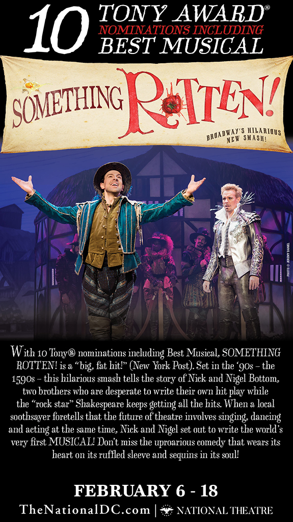 Date Night at The National Theatre to see Something Rotten! + Giveaway