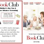 Pre-screening of the movie Book Club + tea and pampering on Mother's Day!