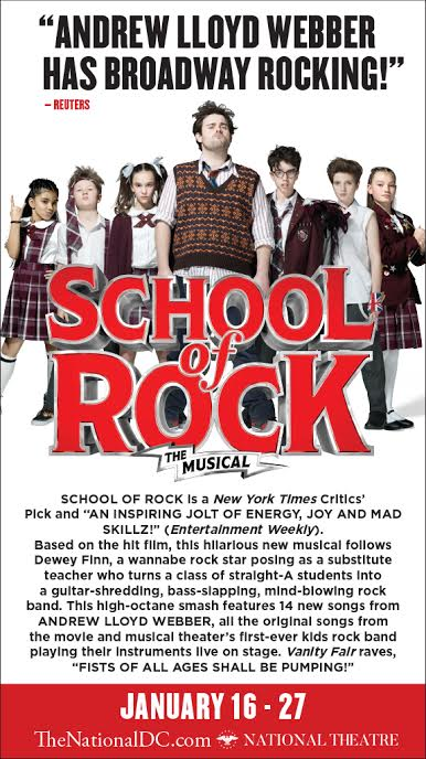 School Of Rock At National Theatre Giveaway